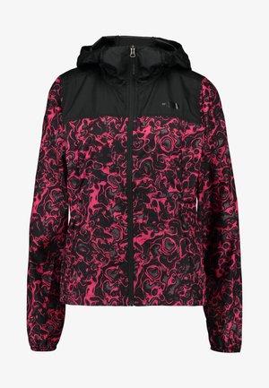PRINT CYCLONE - Lehká bunda - rose red