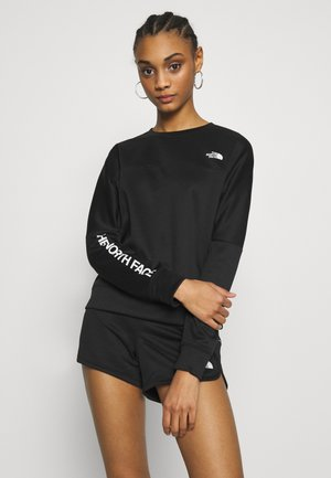 TRAIN LOGO CROP - Sweatshirt - black