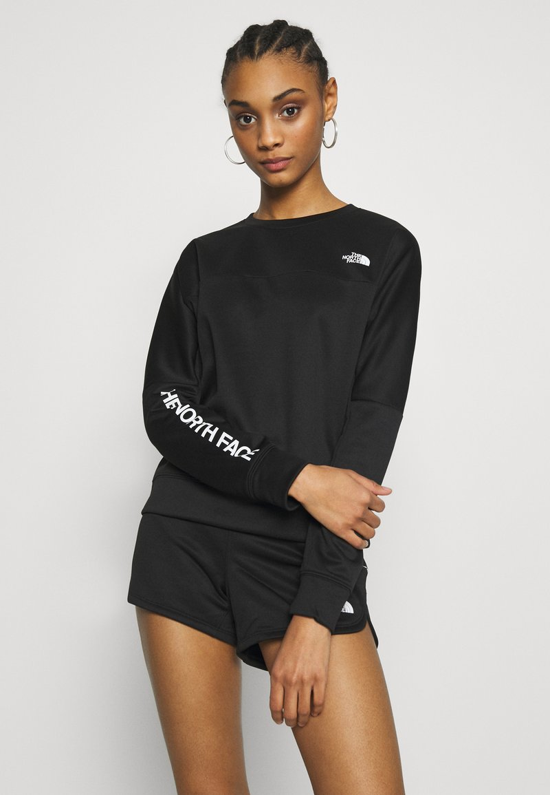 The North Face - TRAIN LOGO CROP - Sweatshirt - black