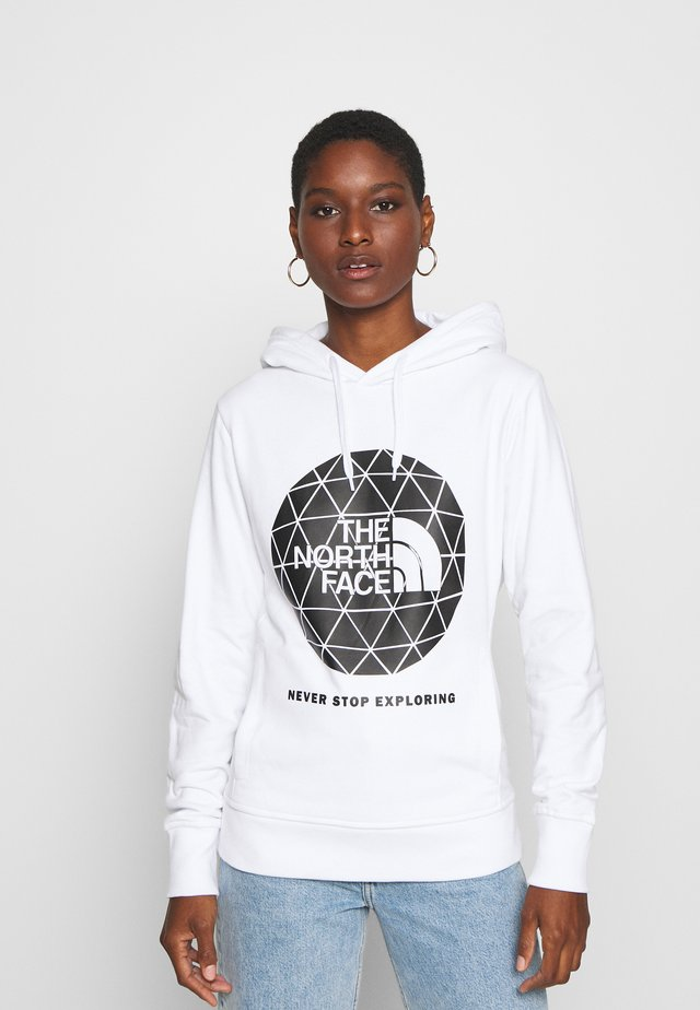 GEODOME HOODIE - Jersey con capucha - white