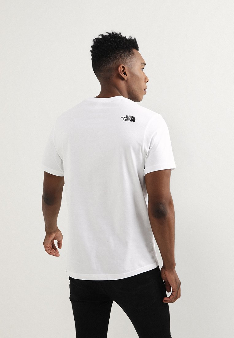 The North Face FINE TEE - T-shirt z nadrukiem - white/black