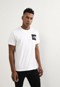 The North Face - FINE TEE - T-shirt med print - white/black - 0