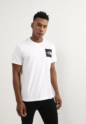 FINE TEE - T-Shirt print - white/black