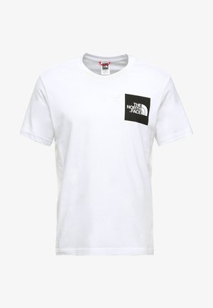 FINE TEE - Print T-shirt - white/black