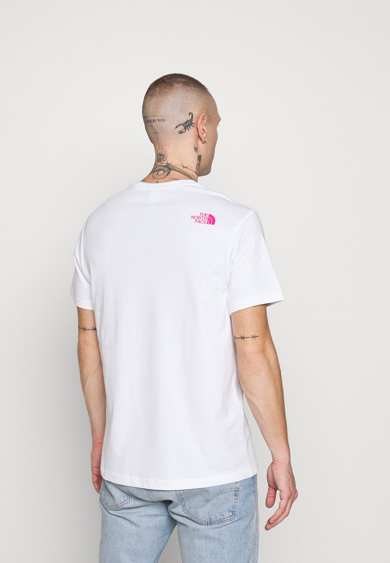 The North Face - FINE TEE - Print T-shirt - white/mr. pink