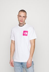 The North Face - FINE TEE - Print T-shirt - white/mr. pink - 2