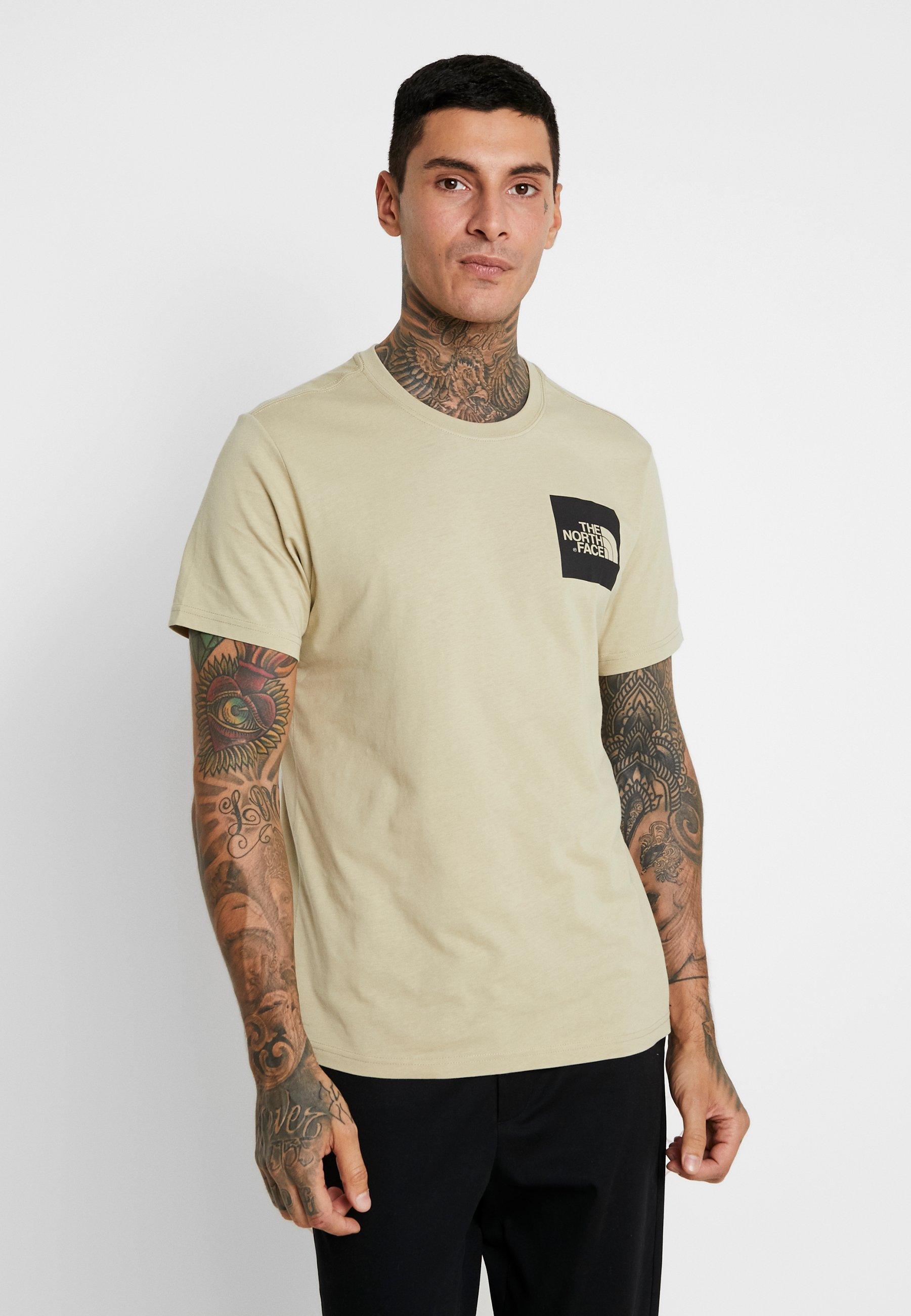 Stampa shirt Fine Beige The North TeeT Con Twill Face OkZiuPX