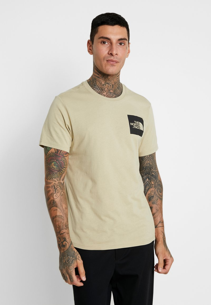 The North Face - FINE TEE - Print T-shirt - twill beige