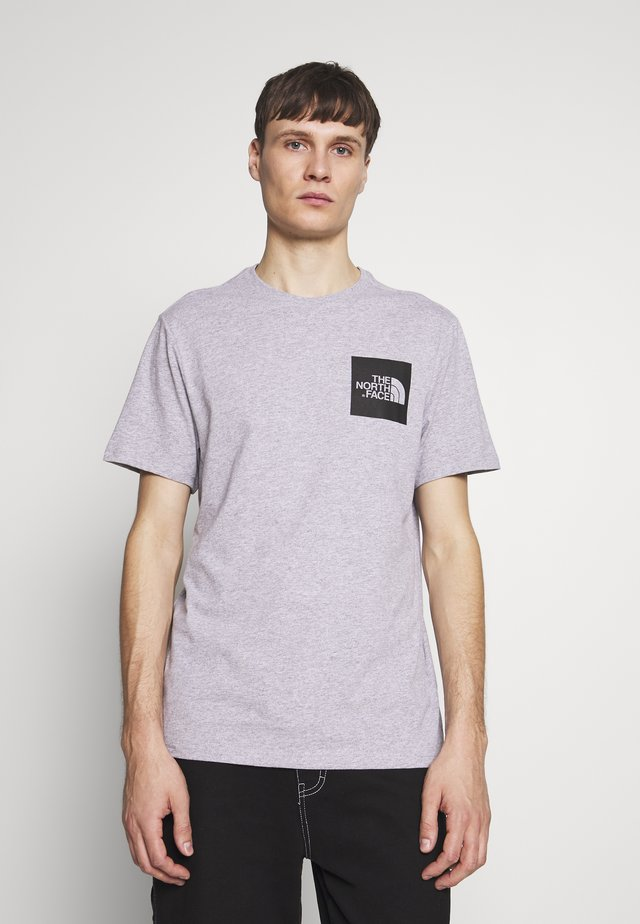 FINE TEE - T-shirt z nadrukiem - heather grey