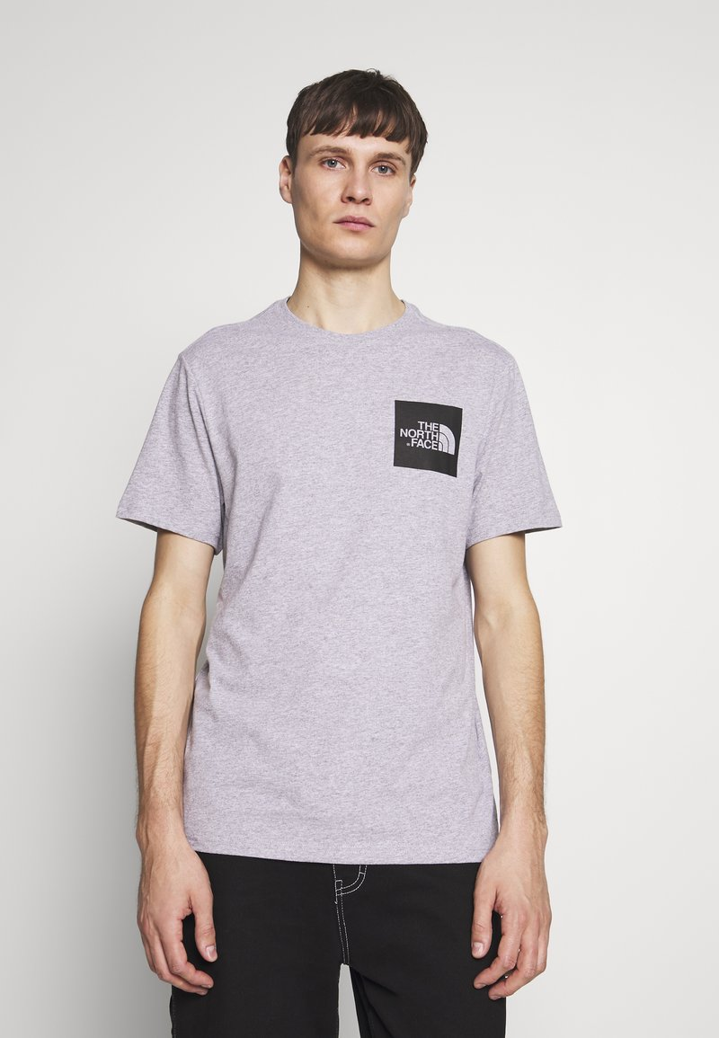 The North Face - FINE TEE - Print T-shirt - heather grey