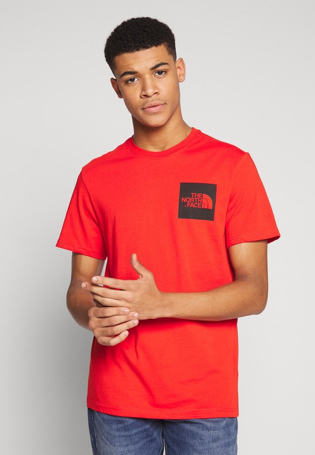 FINE TEE - T-shirt imprimé - fiery red