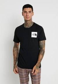 The North Face - FINE TEE - T-shirt print - black - 0