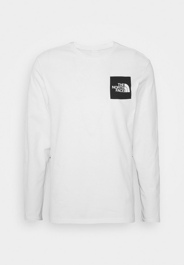 FINE TEE  - Camiseta de manga larga - white/ black