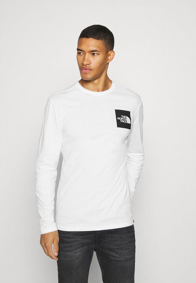 FINE TEE  - Long sleeved top - white/ black