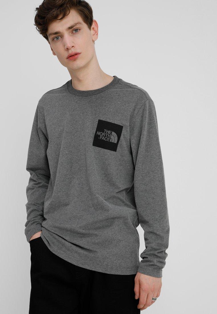 The North Face - FINE TEE - Long sleeved top - medium grey heather