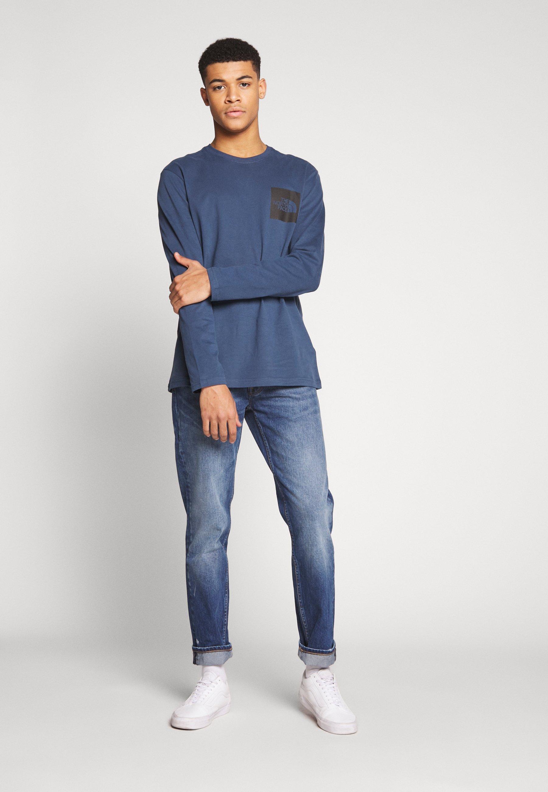 The North Face FINE - Bluzka z długim rękawem - blue wing teal