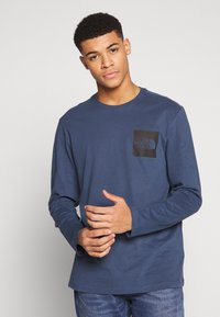 The North Face - FINE TEE  - T-shirt à manches longues - blue wing teal - 0