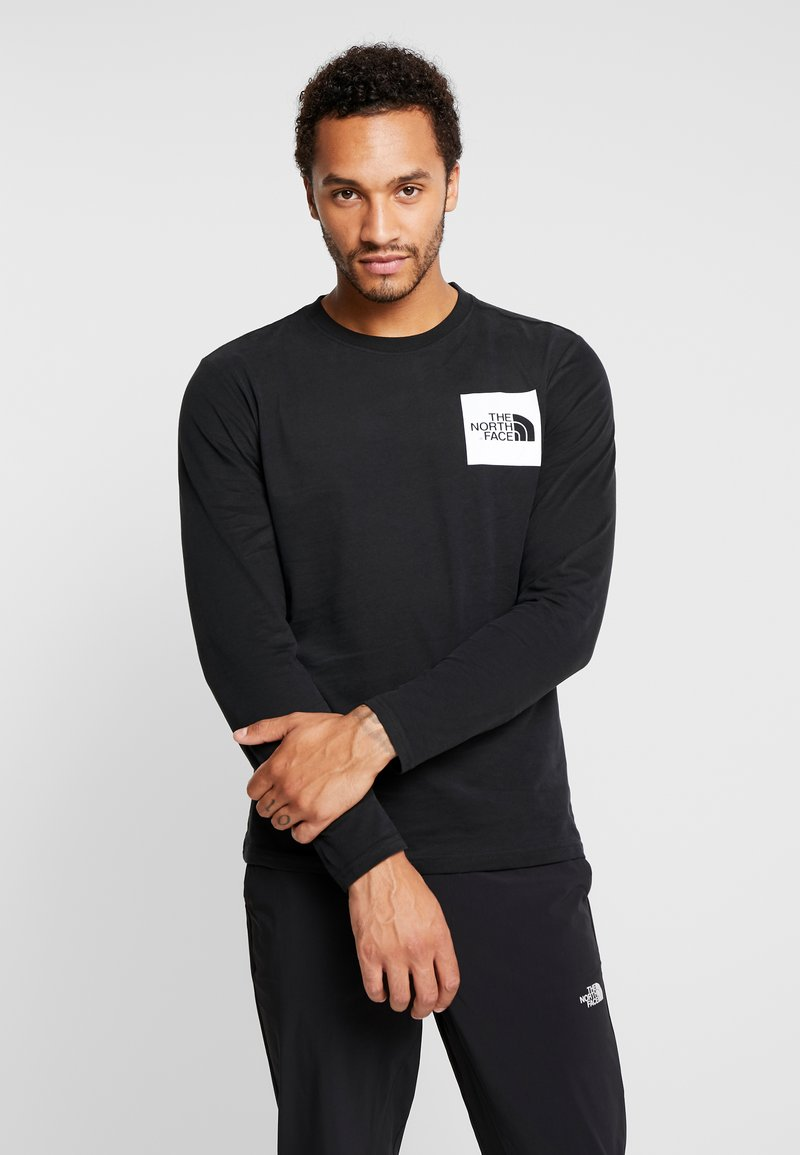 The North Face - FINE TEE - Langarmshirt - black/white