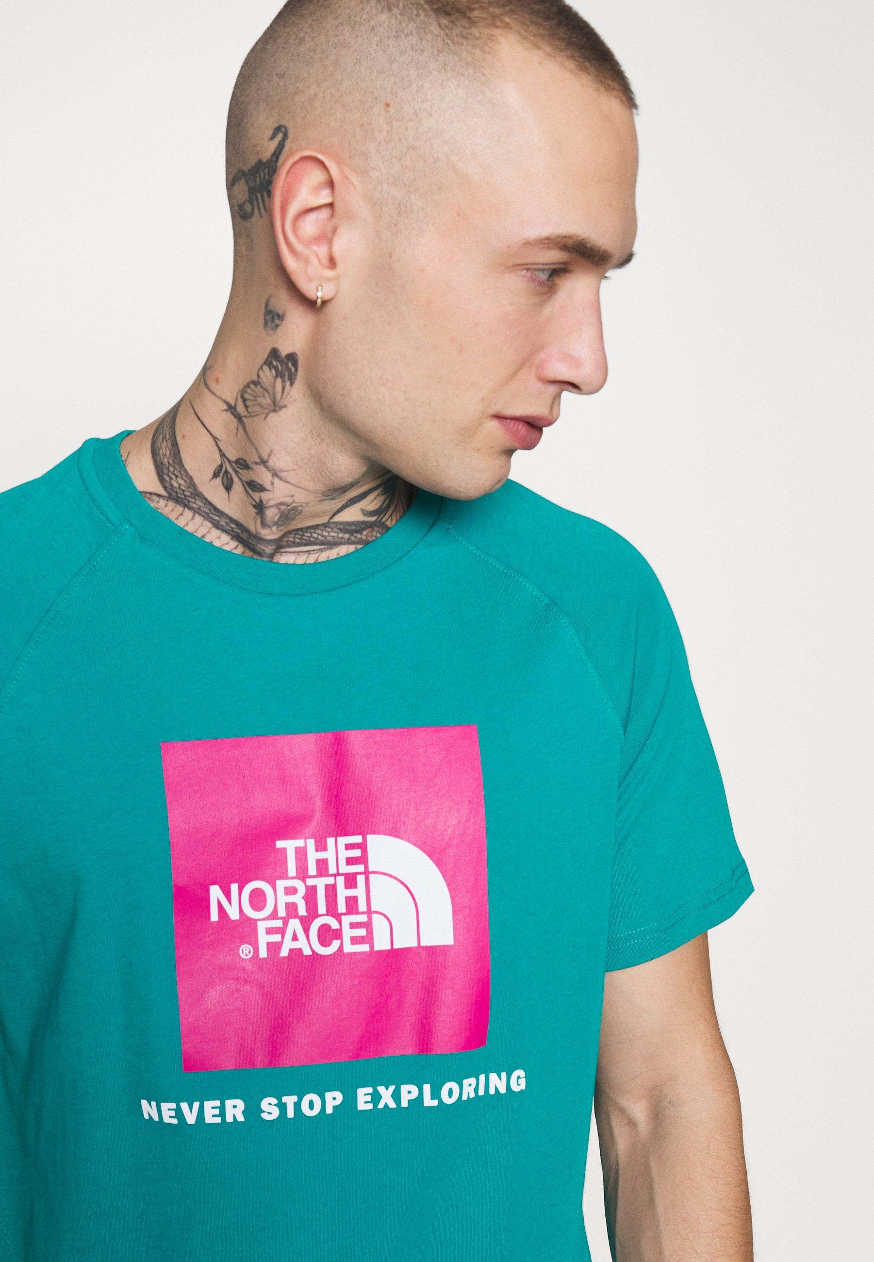 The North Face RAG BOX - T-shirt z nadrukiem - jaiden green