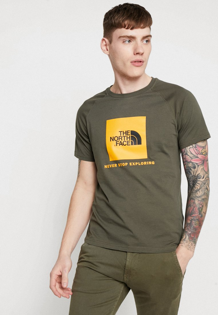 The North Face - RAG BOX - T-shirt print - new taupe green