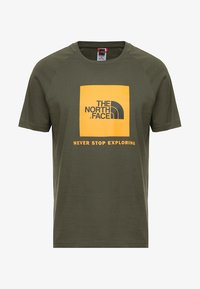 The North Face - RAG BOX - T-shirt print - new taupe green - 3