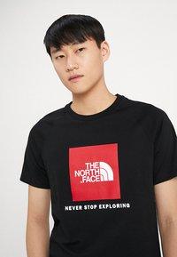 The North Face - RAG BOX - T-shirt print - black - 4