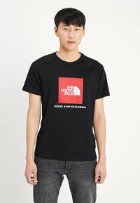 The North Face - RAG BOX - T-shirt print - black - 0