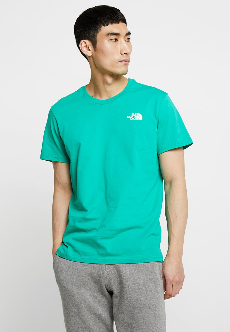 The North Face - SIMPLE DOME TEE - Print T-shirt - bastille green
