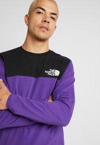 The North Face - HIMALAYAN TEE - Långärmad tröja - hero purple/black - 4