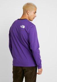 The North Face - HIMALAYAN TEE - Långärmad tröja - hero purple/black - 2