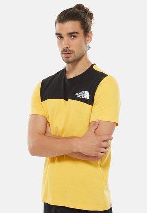 HIMALAYAN TEE - Print T-shirt - yellow/black