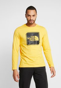 The North Face - STRIPE BOX TEE - Long sleeved top - yellow/black - 0