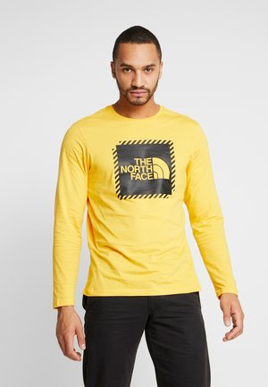 STRIPE BOX TEE - T-shirt à manches longues - yellow/black