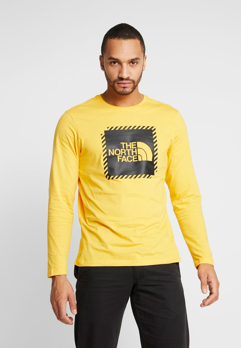 The North Face - STRIPE BOX TEE - Long sleeved top - yellow/black
