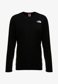 The North Face - SLANTED LOGO TEE - Top sdlouhým rukávem - black/white - 4