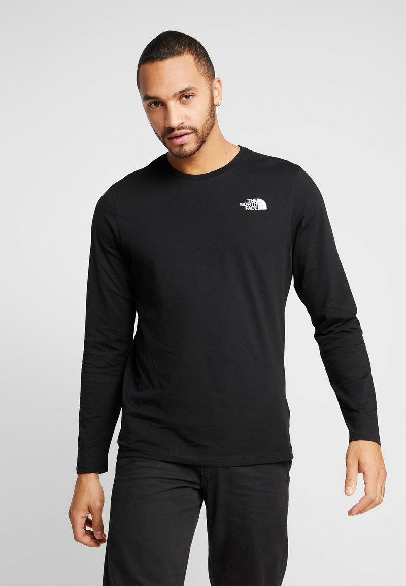 The North Face - SLANTED LOGO TEE - Top sdlouhým rukávem - black/white
