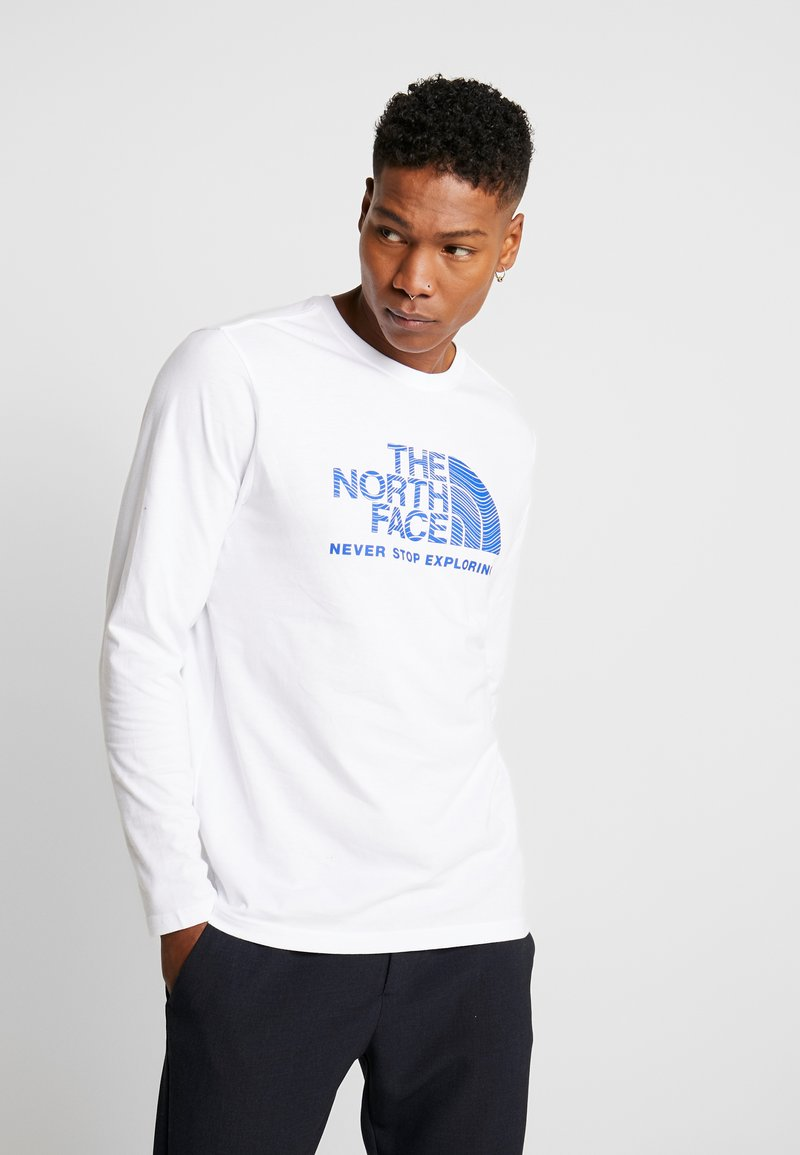 The North Face - FILLED LOGO TEE - T-shirt à manches longues - white