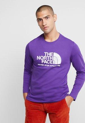 FILLED LOGO TEE - Long sleeved top - purple