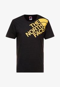 The North Face - SHOULDER LOGO TEE - T-shirt imprimé - black/yellow - 3