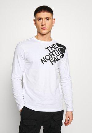 SHOULDER LOGO TEE - Bluzka z długim rękawem - white