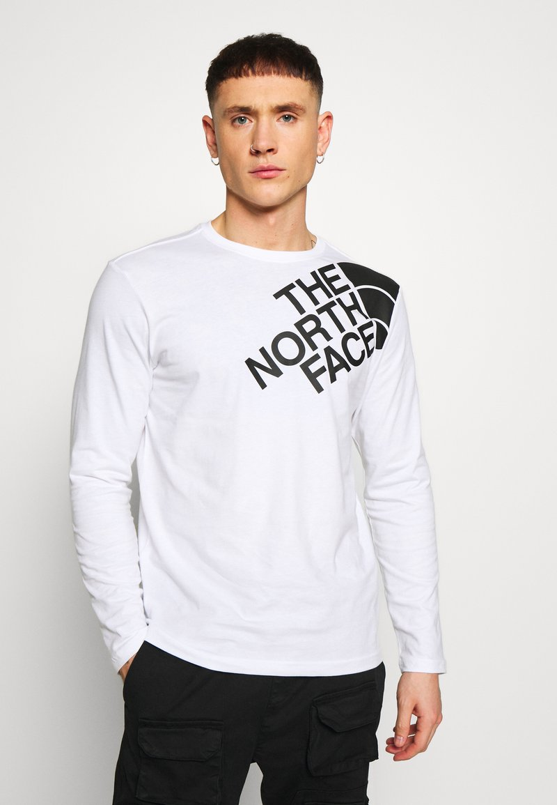 The North Face - SHOULDER LOGO TEE - Bluzka z długim rękawem - white