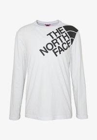 The North Face - SHOULDER LOGO TEE - Bluzka z długim rękawem - white - 4