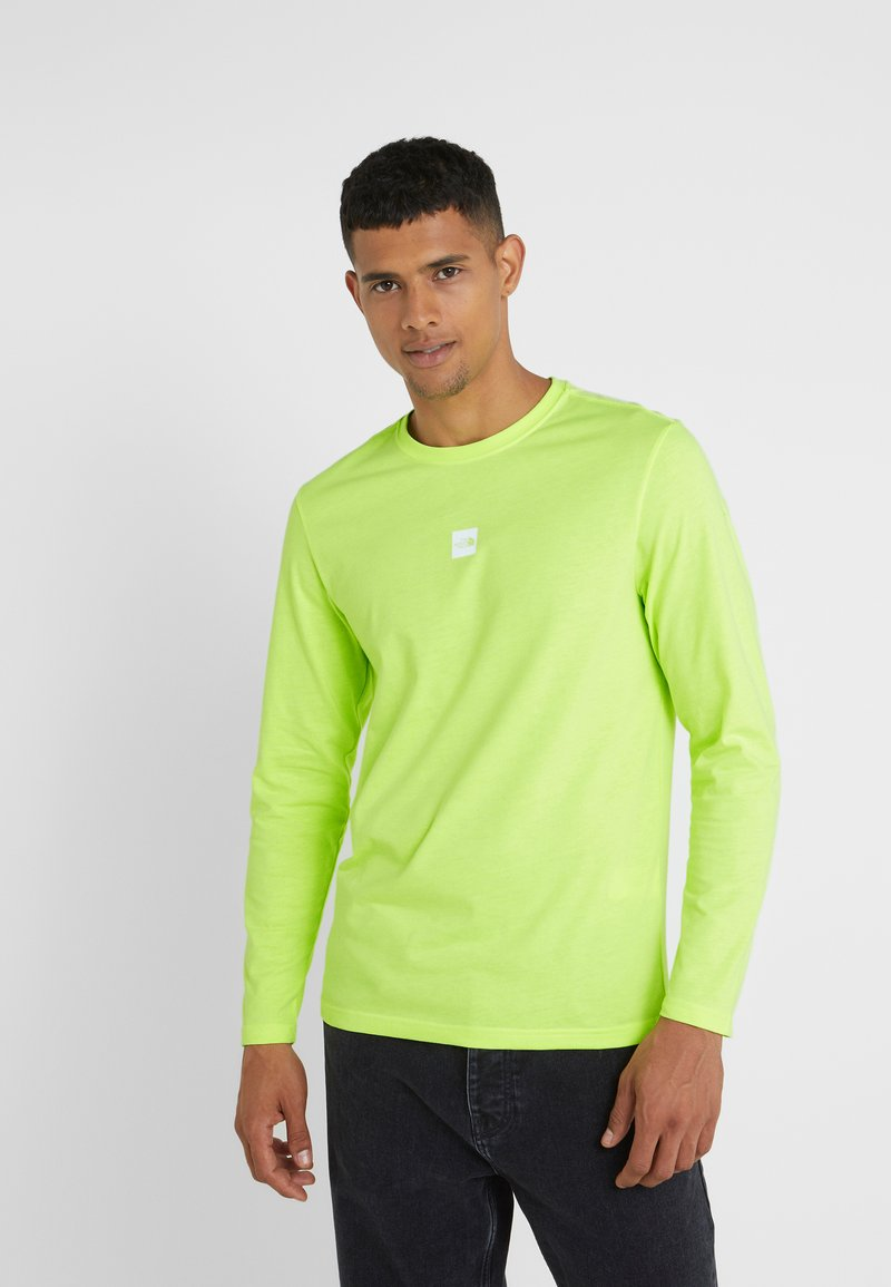 The North Face - GRAPHIC TEE - Bluzka z długim rękawem - bright yellow