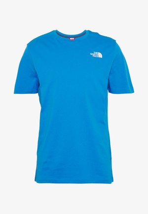 T-shirts med print - clear lake blue/ black