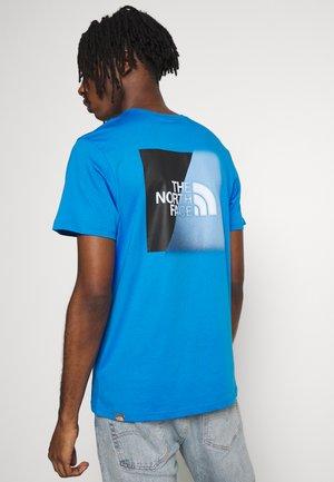 Print T-shirt - clear lake blue/ black