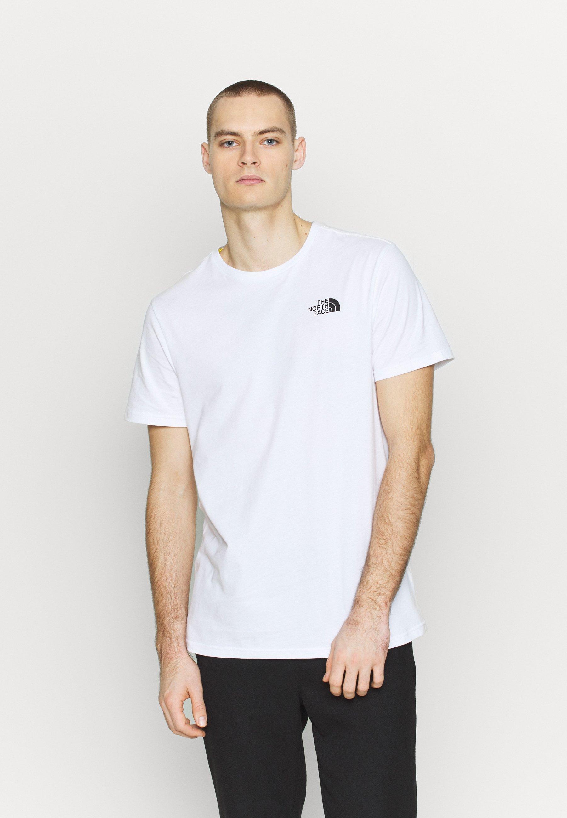 The North Face T-shirts med print - white/ lemon