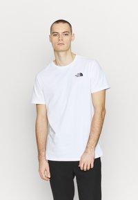The North Face - Print T-shirt - white/ lemon - 0