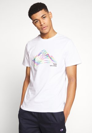 Printtipaita - white/black/multi