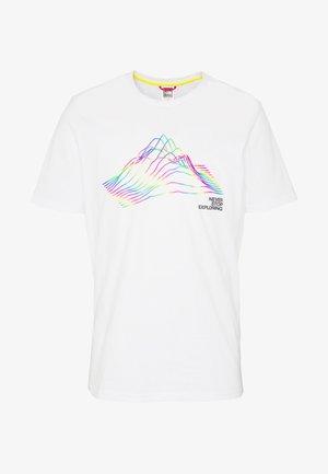 T-shirt imprimé - white/black/multi