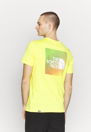 T-shirt med print - lemon/white